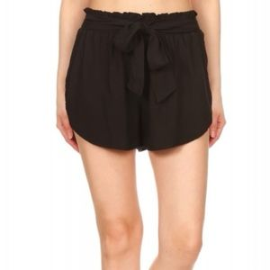 Shorts - Black shorts with tie